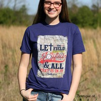 His Word Let the Field be Joyful Bible Journaling Tee