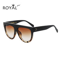 2016 Newest Brand Designer Women Sunglasses Acetate Sun Glasses Flat Top Shield Shape Glasses Shadow ss650