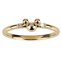 14 KT Gold and Diamond Mickey Mouse Ring - Disney Dream Collection