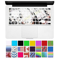 """DHZ® Marble Pattern White Keyboard Cover Silicone Skin for MacBook Air 13"""" MacBook Pro 13"""" 15"""" 17"""" Inch (with or w/out Retina Display) and iMac Wireless Keyboard"""