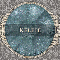 KELPIE Mineral Eyeshadow: 5g Sifter Jar, Muted Turquoise with Lavender Duochrome, VEGAN Cosmetics, Shimmer Eye Shadow