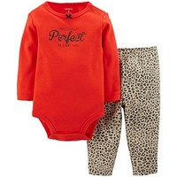 Gerber Baby Girls' 3 Piece Take Me Home Set Bodysuit Legging and Cap Set