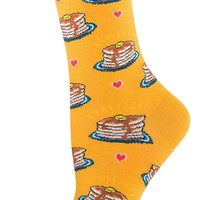 Pancakes - Novelty Crew - Women's Socks