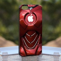 Iron Man Suit - Print on Hard Cover iPhone 5 Black Case