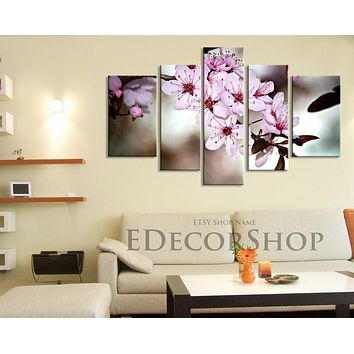 Large Wall Art CANVAS Print Blossom Cherry Large Size Canvas Print Almond Tree Canvas Print