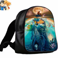 ariel little mermaid and the moon for Backpack / Custom Bag / School Bag / Children Bag / Custom School Bag