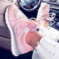 New Balance Casual running shoes Sports shoes Z-Letters Classic Sneakers Shoes Pink