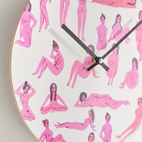 """Leah Reena Goren For Deny Naked Ladies 12"""" Wall Clock   Urban Outfitters"""
