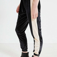 UO Striped Velvet Jogger Pant   Urban Outfitters