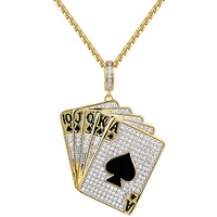 New Men's Playing Cards Deck of Cards Pendant Necklace