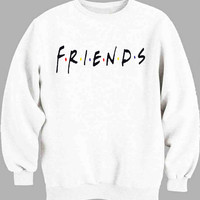 Friends American 90s TV Series Jennifer Aniston Logo Sweater for Mens Sweater and Womens Sweater *