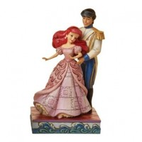 Disney Traditions by Jim Shore 4015337 Ariel and Prince Dancing Figurine 6-Inch
