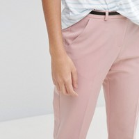 ASOS Cigarette Trousers With Belt at asos.com