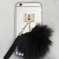 Black Fuzz ball iPhone Case