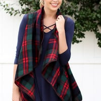 Winter Wonderland Plaid Vest