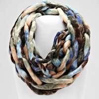 Ombre Knitted Hand Woven Infinity Multi Mix