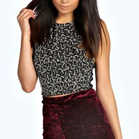 Lorena Crushed Velvet Hotpants