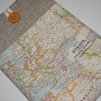 """13 inch MacBook Pro Case, Laptop Sleeve for 13"""" Ultrabooks Custom Size , Padded Laptop Sleeve Cover,World Map, Europe Map"""