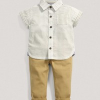 Boys 2 Piece Shirt & Chinos Outfit Set
