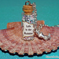 Life is the Bubbles Magical Necklace with a Mermaid Charm The Little Mermaid