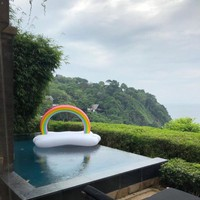 Rainbow Cloud Pool Float Floaty