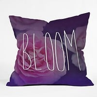 Leah Flores Bloom Throw Pillow