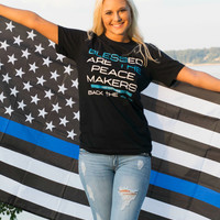 Peace Makers - Back The Blue Tee