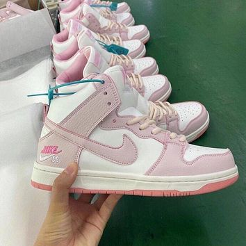 Nike SB Dunk High Pink Sneakers Shoes