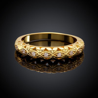 Accent Promise Gold Plated Ring