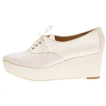 G.V.G.V. - Two-Tone Textured Leather Creepers - GV1314003A WHITE - H. Lorenzo