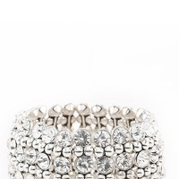 YH0007878H Silver Rhinestone Bracelet and Shop accessories at MakeMeChic.com