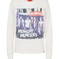 Teens Cream One Direction Midnight Memories Sweater