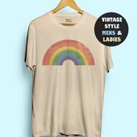 Hillbilly Vintage Rainbow Shirt Women Cute Funny Tshirt Tee Gay AF Tee Shirts LGBT Gay Shirt Lesbian Shirt Men 70s Pride 1970s