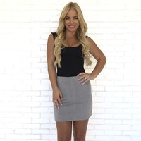 Making Moves Skirt in Grey