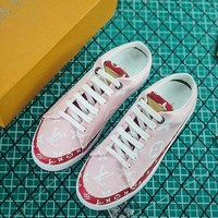 Louis Vuitton LV Frontrow Open Back Sneaker Pink - Best Online Sale