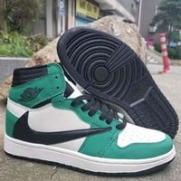 Travis Scott x Air Jordan 1 Retro High OG TS SP White Black Green - Best Deal Online