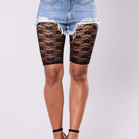 Cross My Heart Biker Short - Black