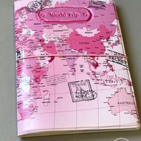Passport Cover World Map Travel Cards Holder Case