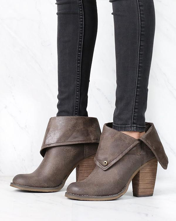 Image of Sbicca - Chord Fold-Over Boots in Taupe