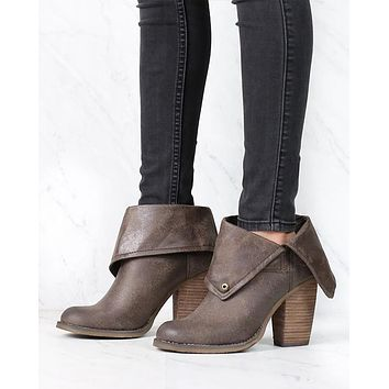 Sbicca - Chord Fold-Over Boots in Taupe