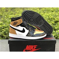 "Air Jordan 1 ""Gold Toe""Size 40.5-47.5"