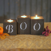 Chalkboard Candles - Halloween Candles - Halloween Decor
