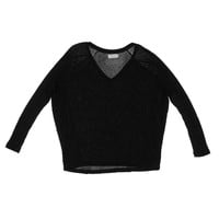 Graham & Spencer Womens Thermal Asymmetric Knit Top