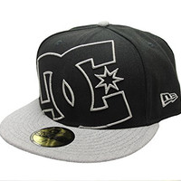 DC Shoes Men's Coverage Fitted 14 New Era 59Fifty Hat Cap Black Gray (7 1/8)