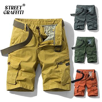 Relaxed Fit Camouflage Cargo Short