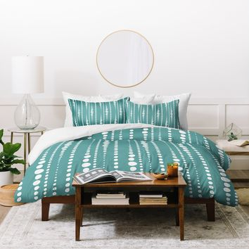 Heather Dutton Bestrewn Lagoon Duvet Cover