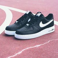 Nike Air Force 1 488298-092 Black For Women Men Running Sport Casual Shoes Sneakers
