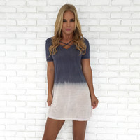 Coastal Tie Dye Jersey Tunic Cover Up
