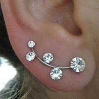 Earring Pair for piereced ear Silver plated ER3