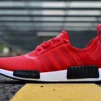Adidas NMD Men Women Fashion Running Sports Shoes Red